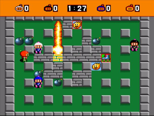 Gameplay image of Bomberman